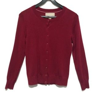 BANANA REPUBLIC | Red Cardigan 100% Merino Wool PS